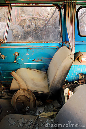Free Old Car Interior Royalty Free Stock Images - 15230449