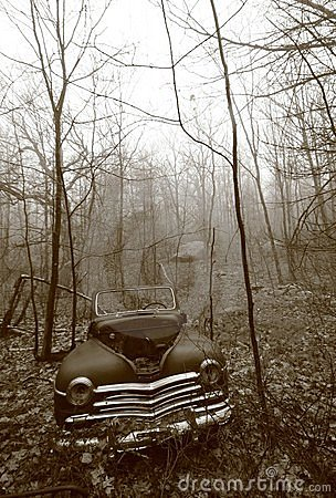 Old Car Left to Rot in the New Hampshire Woods