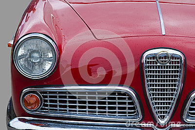 Old car, retro, closeup