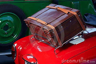 Old car trunk