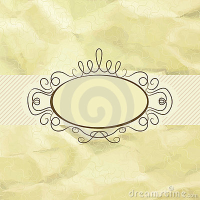 Old Card Design, Yellow Vintage Frame. EPS 8 Royalty Free Stock Images - Image: 21239519