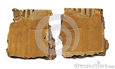 Old Cardboard Scraps