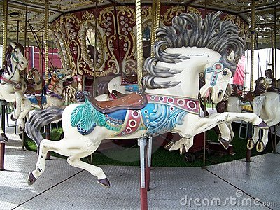 Old Carousel Horse Royalty Free Stock Photos - Image: 13843198
