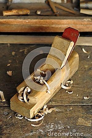 Old carpenter plane tool