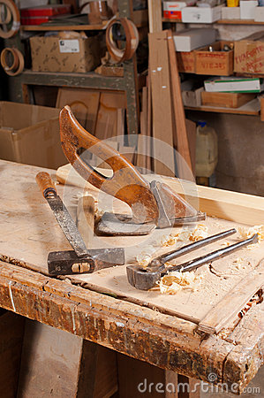 Old carpentry tools