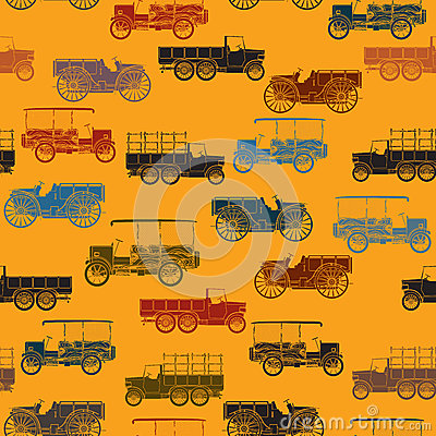 Old cars pattern seamless