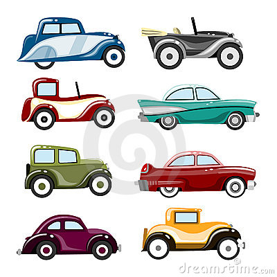 Free Old Cars Vector Royalty Free Stock Photo - 10402015