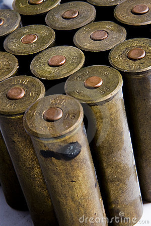 Old cartridges for shotgun