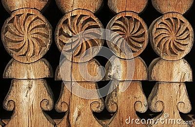 Old carved wood