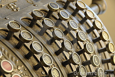 Old Cash Register Royalty Free Stock Images - Image: 10984799