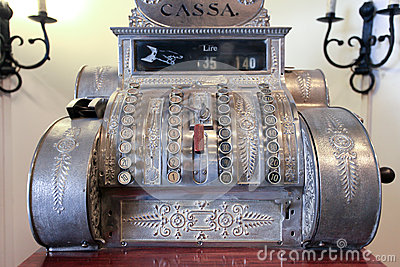 Old cash register Editorial Photography