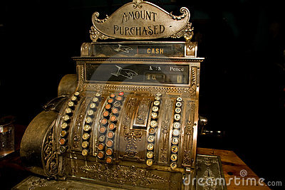 Old cash register