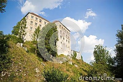 Old castle from 14th century in Pieskowa Skala