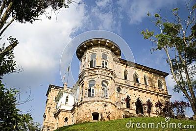Old castle on hilltop