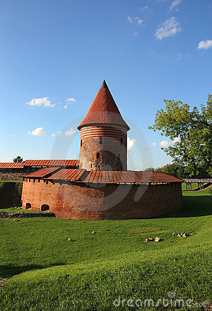 Old castle in Kaunas, Lithuania.