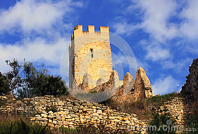 Old castle of the Knights Templar