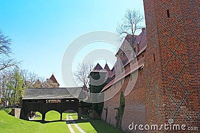 Old castle in Malbork / Marienburg. Poland
