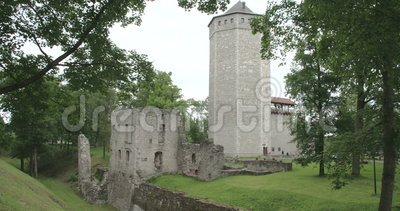 An old castle from Paide Estonia FS700 4K RAW Odyssey 7Q. An old medieval big castle from Paide Estonia FS700 4K RAW Odyssey 7Q stock video footage