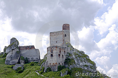 Old castle ruins in Poland in Europe