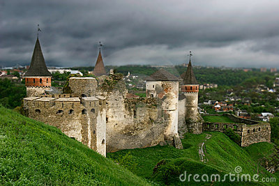 Old castle on sky background