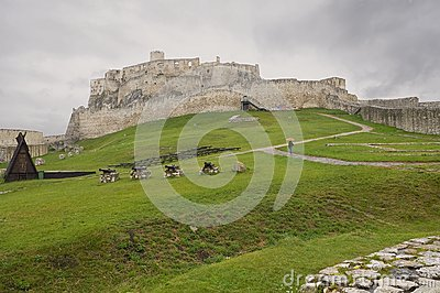 Old castle Spiss Hrad in Slovakia