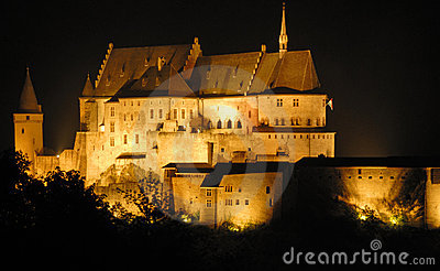 The old castle of Vianden in Luxembourg,Europe
