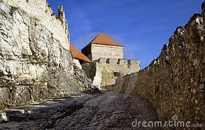 Old castle walls and battlements