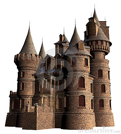 Free Old Castle With Towers Stock Photo - 23125320