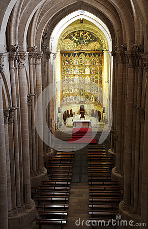 The old cathedral, interior view, Salamanca