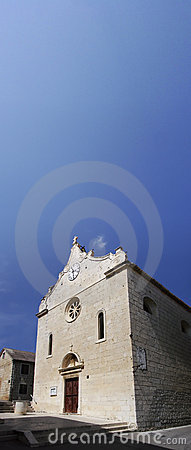 Old catholic church in Dalmatia