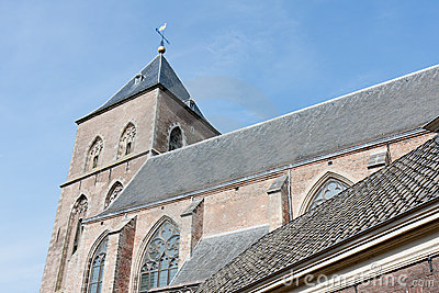 Old catholic church in a Dutch medieval city