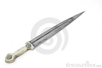 Old caucasian dagger