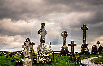 Old celtic cemetery in Ireland