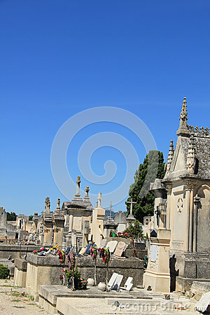 Old cemetery in the Provence