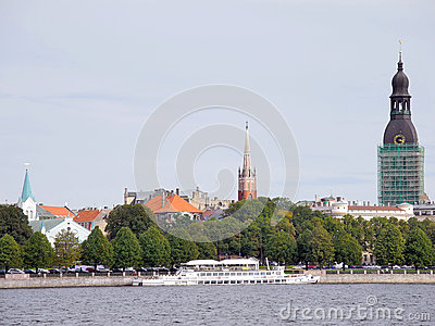 Old Centre Of Riga Stock Image - Image: 25060181