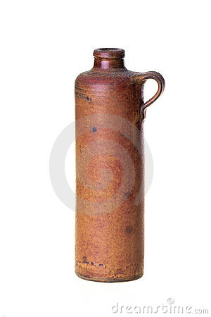 Old ceramic bottle