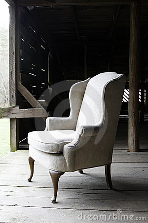Old chair in barn