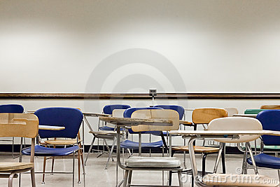 Old Chairs in a Classroom