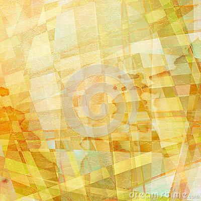 Old chaotic pattern with colorful translucent curved li
