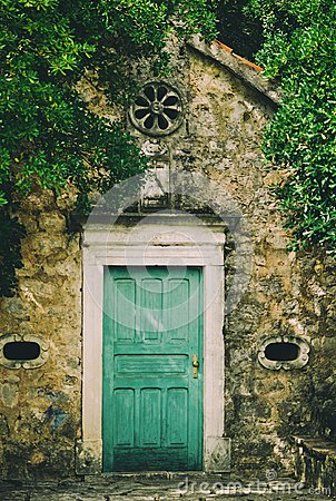 Free Old Chapel Door In Tivat , Montenegro Stock Photos - 107340803