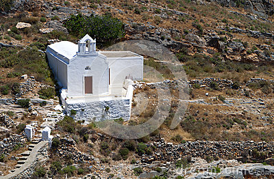 Old chapel at Syros island, Greece