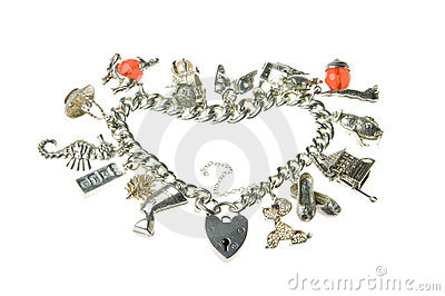 Old charm bracelet heart