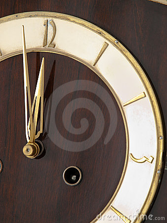Old chessnut clock ivory dial