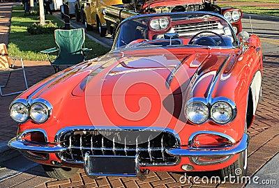 Old Chevrolet Corvette Car