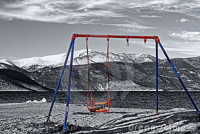 Old children swing