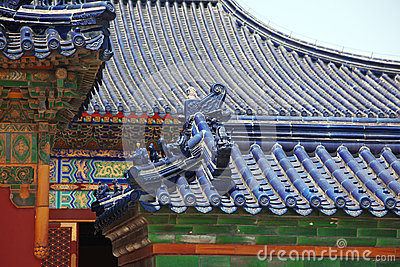 Old China roof at The Imperial Vault of Heaven