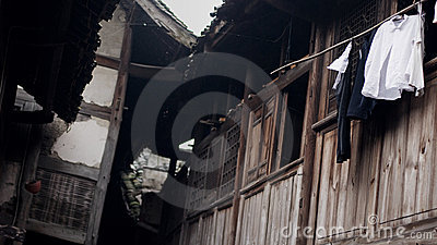Old China Town tile-roofed house