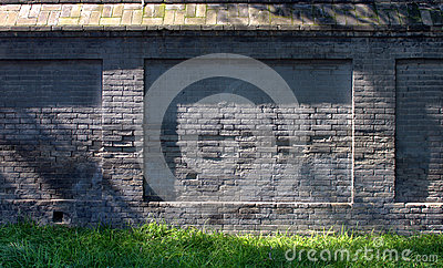 Old Chinese brick wall