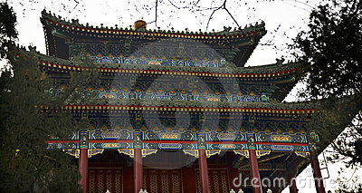 Old Chinese Pavilion Jingshan Park Beijing China