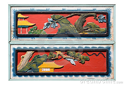 Old Chinese woodcarving